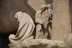 Familia van Barcelona - sagrada Stock Afbeelding