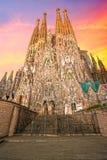 Familia van La Sagrada, Barcelona, Spanje. Royalty-vrije Stock Afbeelding