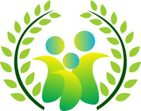 Familia verde Foto de archivo libre de regalías