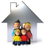 Familia y casa Fotografía de archivo libre de regalías
