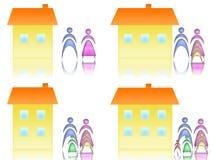 Familia y casa Fotos de archivo libres de regalías