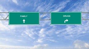 Familia y drogas imagen de archivo