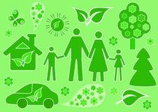 Familia y ecología. Imagenes de archivo