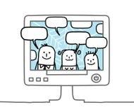 Familia y red social Imagen de archivo