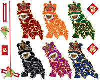 Familias de la danza de león fijadas libre illustration