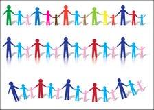 Familias de papel de la gente libre illustration
