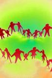 familias del Papel-encadenamiento stock de ilustración