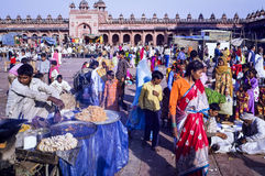 Familias musulmanes en Fatehpur Sikri Eid Festival en la India Fotografía de archivo