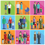 Familias, padres y pares Fotos de archivo libres de regalías