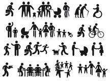 Familias y generaciones ilustración del vector