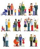 Familias y pares ilustración del vector