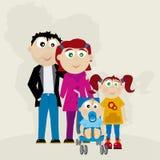 familiavektor Royaltyfri Fotografi