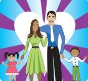 Familie 2 vector illustratie
