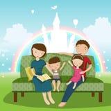 Familie Stockfoto