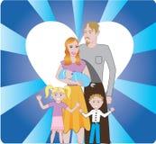Familie 3 vector illustratie
