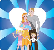 Familie 3 Royalty-vrije Stock Afbeelding