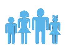 Familie in 3d variatie Royalty-vrije Illustratie