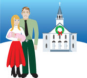 Familie 4 royalty-vrije illustratie