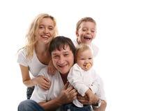 Familie 42 van het geluk Stock Afbeelding