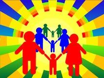 Familie vector illustratie