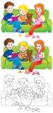 Familie royalty-vrije illustratie