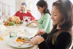 Familie allen samen bij het Diner van Kerstmis royalty-vrije stock afbeeldingen