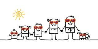 Familie & de zomer Royalty-vrije Stock Afbeelding