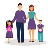 familie Auch im corel abgehobenen Betrag lizenzfreie abbildung