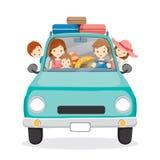 Familie auf dem Auto-Fahren zu reisen Lizenzfreie Stockbilder