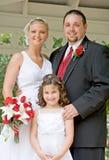 Familie auf Hochzeitstag Lizenzfreie Stockfotos
