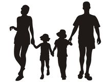 Familie auf Rücksortierung vektor abbildung