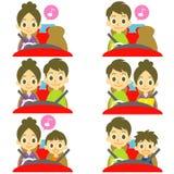 FAMILIE in autobestuurder het drijven vector illustratie