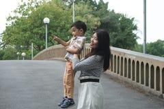 Familie Aziaat Stock Fotografie