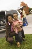 Familie bereit, Ferien anzustreben Lizenzfreie Stockbilder