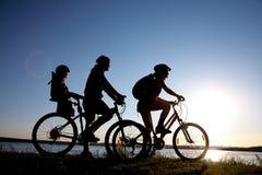 Familie Bicycler Lizenzfreie Stockfotos