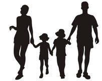 Familie bij de toevlucht vector illustratie