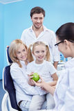 Familie bij stomatologist Royalty-vrije Stock Afbeeldingen