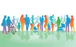 Familie bij vrije tijd vector illustratie