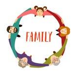 Familie in cirkel Stock Afbeeldingen