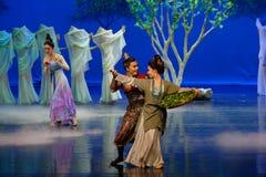 Familie de joyous-eerste handeling: de van de het drama` Zijde van de moerbeiboom tuin-epische dans Prinses ` royalty-vrije stock afbeeldingen