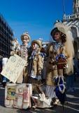 Familie in den wunderbaren themenorientierten Kostümen Lizenzfreie Stockbilder