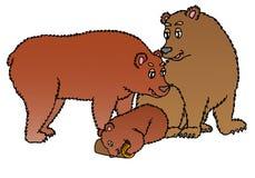 Familie der Bären Stockbilder