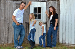 Familie in der Blue Jeans Lizenzfreies Stockbild