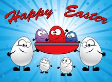 Familie der Eier Lizenzfreies Stockfoto