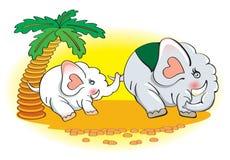 Familie der Elefanten lizenzfreie abbildung
