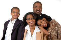 Familie in der formalen Kleidung Lizenzfreie Stockbilder