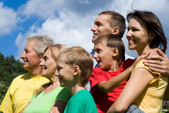 Familie an der Natur Lizenzfreie Stockfotografie