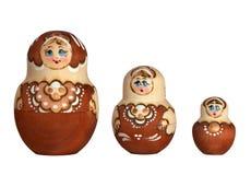 Familie der russischen Puppe Lizenzfreies Stockfoto
