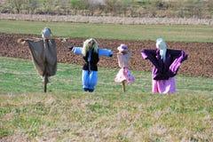 Familie der Vogelscheuchen Lizenzfreies Stockfoto