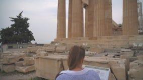Familie dichtbij Parthenon